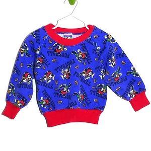 Vintage Mickey Mouse Football Sweatshirt USA 2